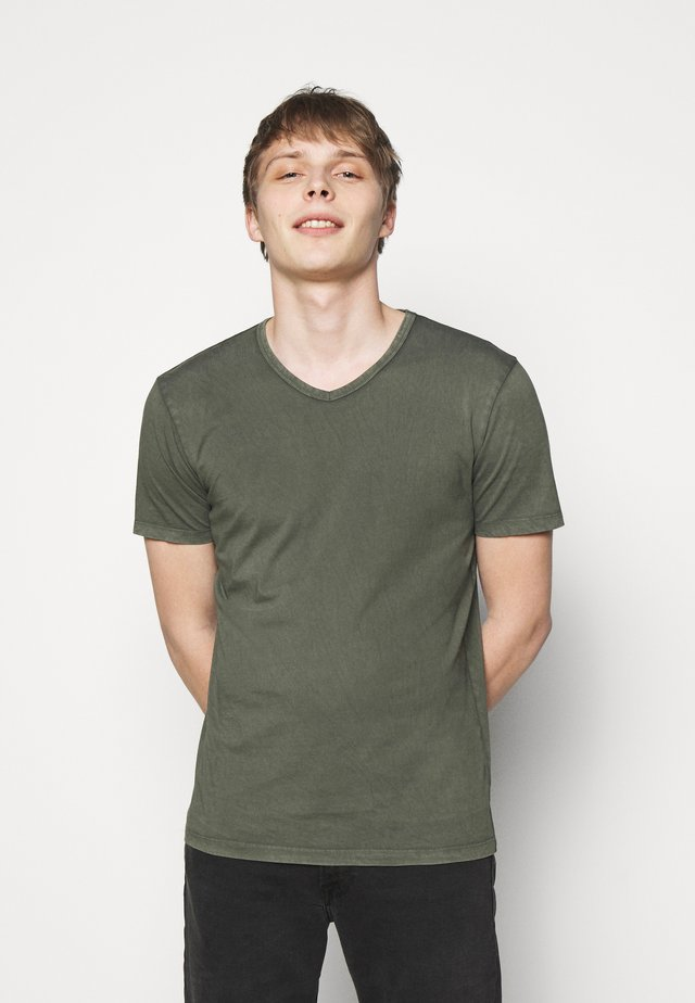 FINN - T-shirt basic - mottled olive
