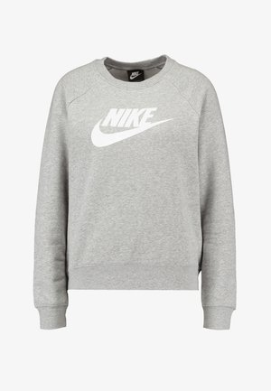 CREW - Mikina - grey heather/white