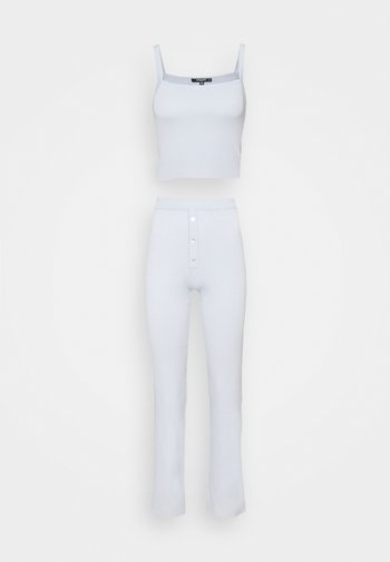 LOUNGEWEAR CROP AND TROUSERS SET - Top - blue