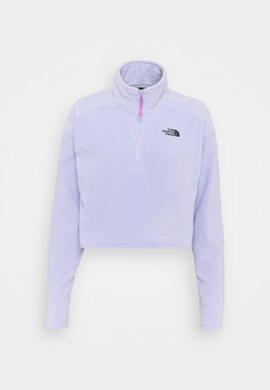 GLACIER CROPPED ZIP - Fleece jumper - sweet lavender