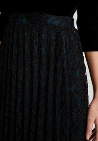 TOM TAILOR DENIM - PLEATED SKIRT - A-snit nederdel/ A-formede nederdele - deep black - 5