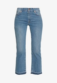 7 for all mankind - CROPPED UNROLLED - Džíny Bootcut - light blue - 3