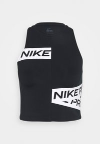 Nike Performance - CROP TROMPE - Funktionsshirt - black/white - 0