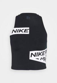 CROP TROMPE - Sports shirt - black/white