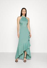 WAL G. - ZEKE FRILL MAXI DRESS - Sukienka z dżerseju - sage green - 0
