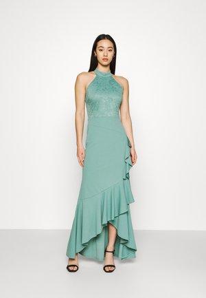 ZEKE FRILL MAXI DRESS - Vestido ligero - sage green