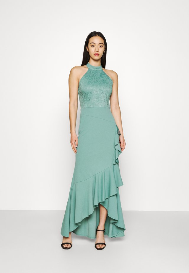 ZEKE FRILL MAXI DRESS - Sukienka z dżerseju - sage green