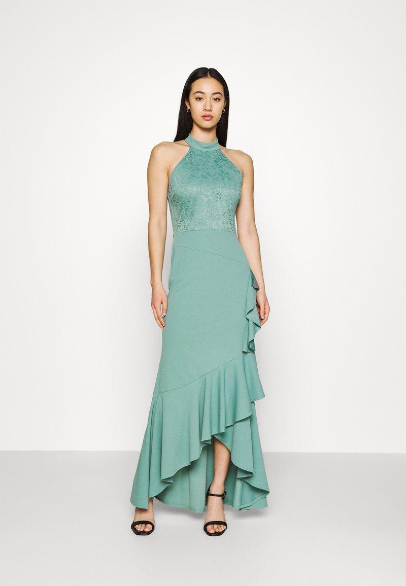 WAL G. - ZEKE FRILL MAXI DRESS - Sukienka z dżerseju - sage green
