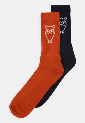 LINDEN SOLID OWL 2 PACK - Sokken - rust