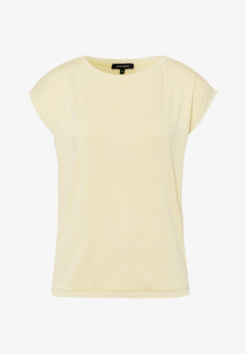 More & More - Basic T-shirt - hellgelb