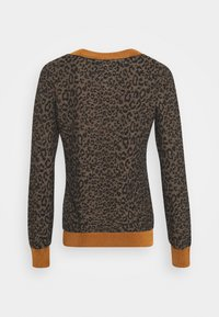 Scotch & Soda - V-NECK KNIT WITH PATTERN - Jumper - brown