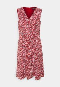 ELNA SLEEVELESS DAY DRESS - Day dress - lighthouse navy/red/cream