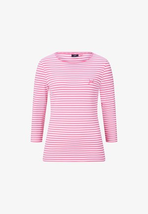Long sleeved top - pink/weiß gestreift