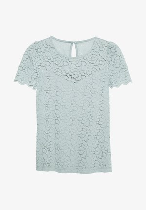 PUFF SLEEVE TEE - Pusero - pale green
