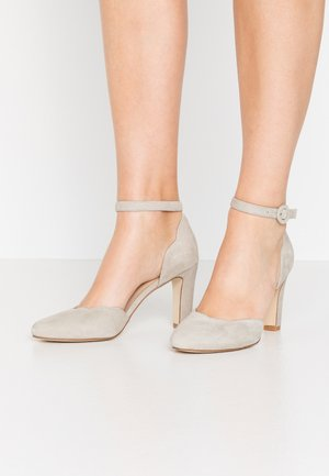 LEATHER PUMPS - High heels - grey