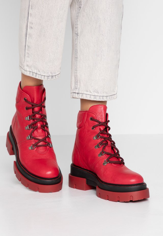 DEBORA - Platform ankle boots - cherry