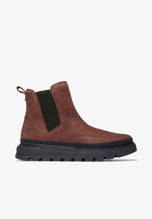 RAY CITY - Platform ankle boots - brown