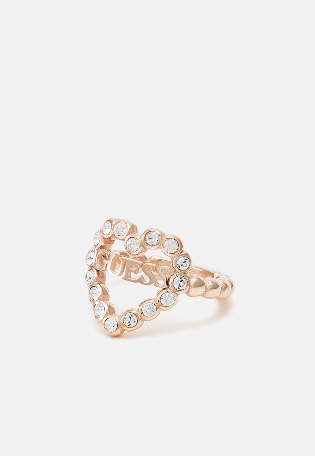 HEART ROMANCE - Ring - rose gold-coloured