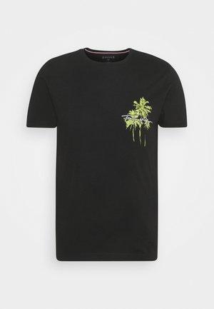 PALM BOX PRINT TEE - Print T-shirt - black