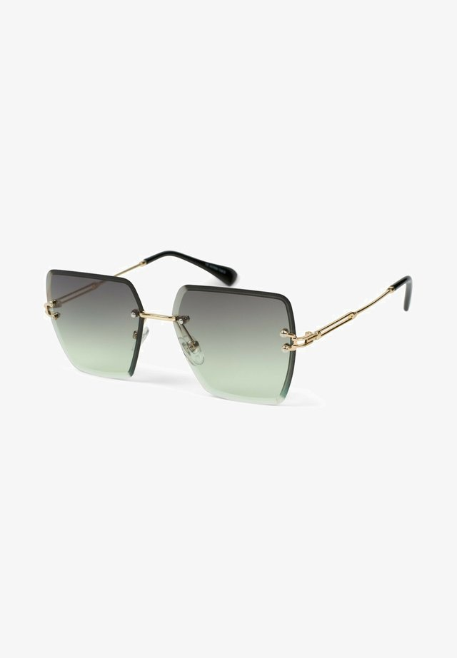 Sunglasses - gestell gold / glas grün verlauf