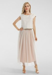 Apart - A-line skirt - creme-nude - 1