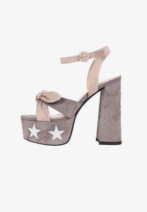 BEE GEES - High heeled sandals - greyish brown
