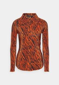 PLISSE - Button-down blouse - rust