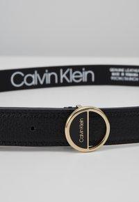 Calvin Klein - HOOP BELT - Pásek - black - 4