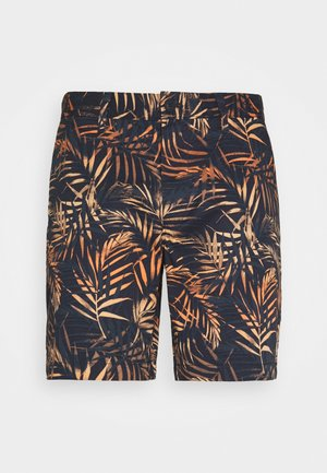 TROPICAL PRINT - Kraťasy - dark blue