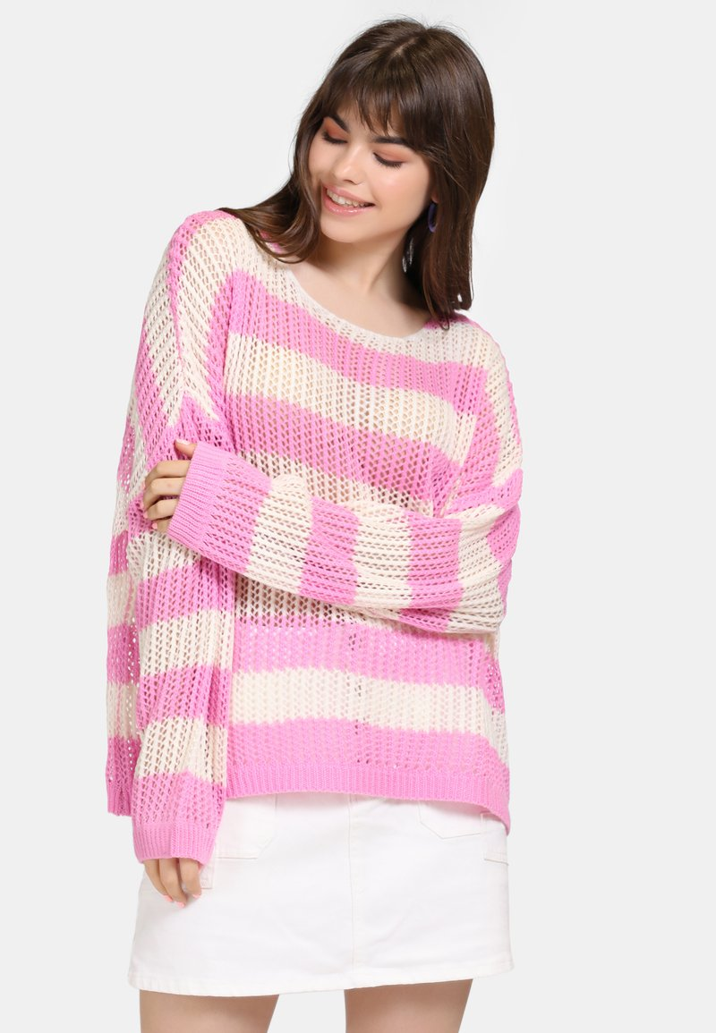 myMo - Jumper - light pink/white