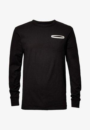 QUARK POCKET - Långärmad tröja - dark black
