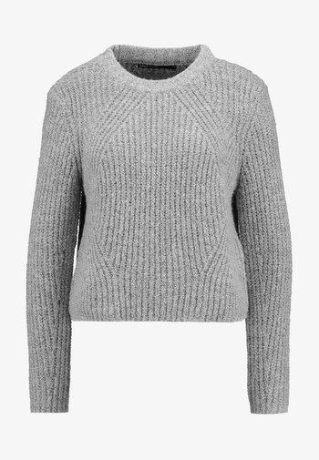 ONLFIONA - Strikkegenser - medium grey melange/black melange