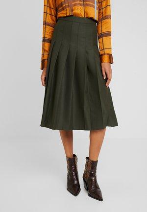 MIDI - A-line skirt - grün