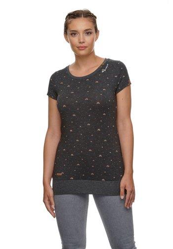 LESLY RAINBOW - T-shirt imprimé - schwarz