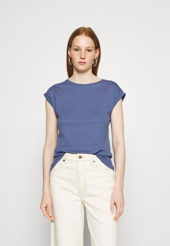ROLL SLEEVE TEE 3 PACK - Basic T-shirt - blue