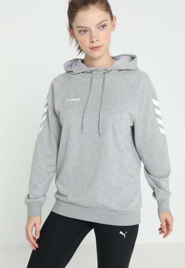 GO HOODIE WOMAN - Sweat à capuche - grey melange