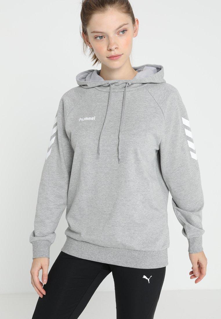 Hummel - HOODIE WOMAN - Hoodie - grey melange