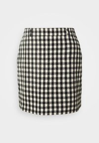 CHARITON CHECK - Mini skirt - black