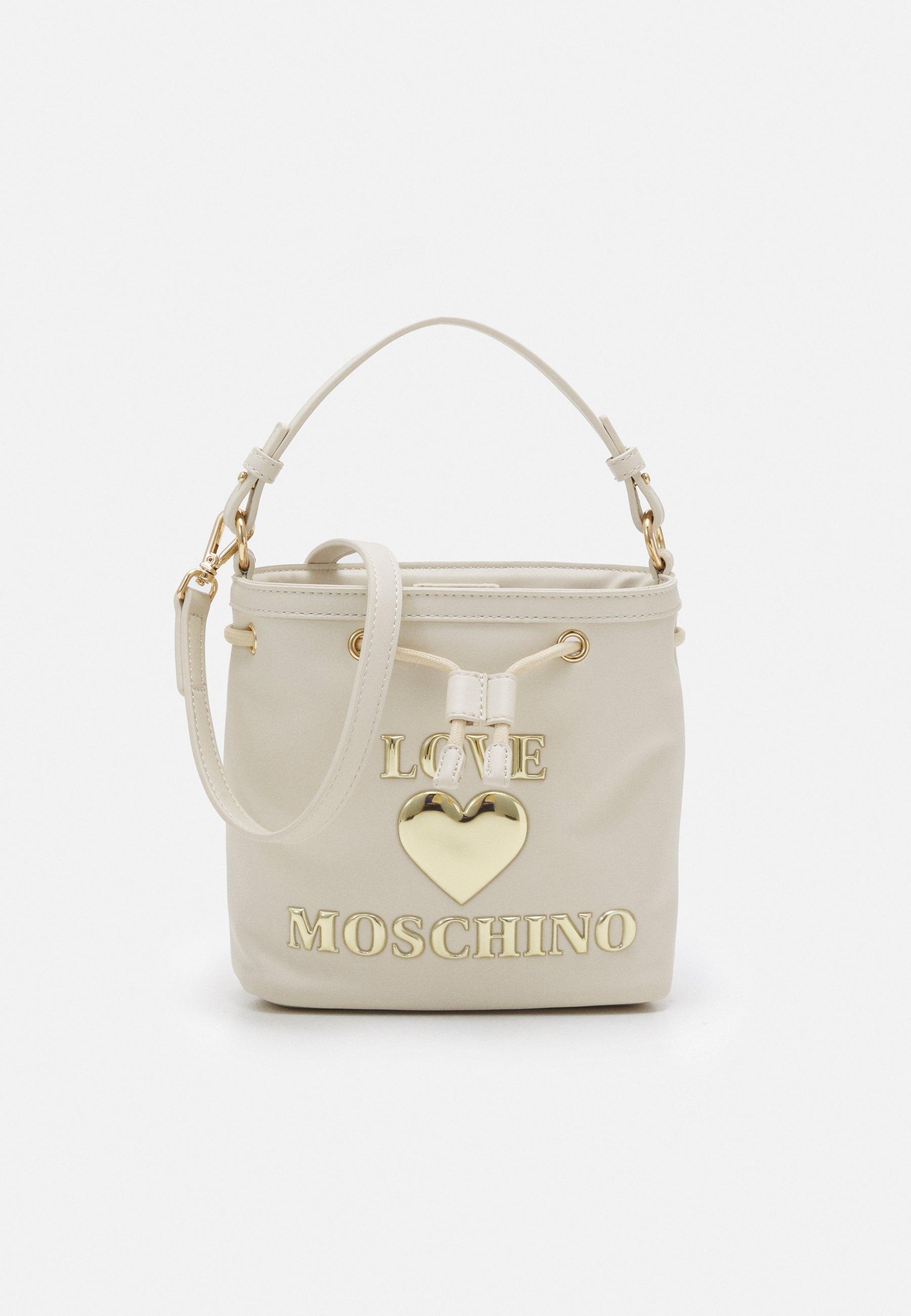 Women TOP HANDLE HEART LOGO BUCKET BAG - Handbag