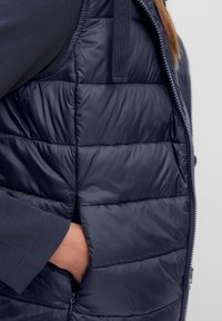 Marc O'Polo - RECYCLED VEST FIX HOOD STAND UP COLL - Waistcoat - midnight blue - 4