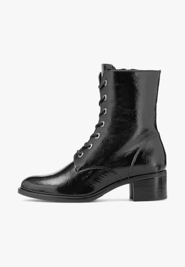 LACK - Lace-up ankle boots - schwarz