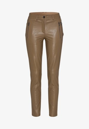 Trousers - dark taupe