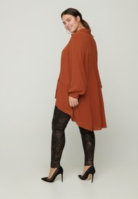 Zizzi - Button-down blouse - brown - 2