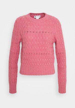 CROPPED CREW NECK JUMPER - Pullover - pink melange