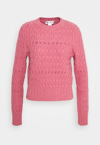 CROPPED CREW NECK JUMPER