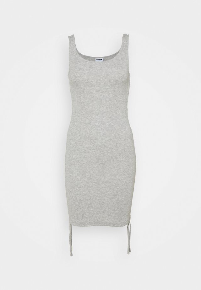 NMSTINE ROUCHING DRESS - Tubino - light grey melange