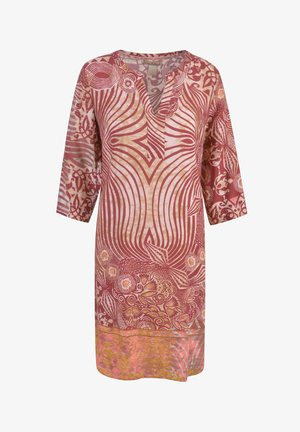 Day dress - gold print