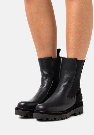 ASTRID - Platform ankle boots - twister nero