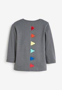 Next - RAINBOW SPIKES DINO - Long sleeved top - grey - 1