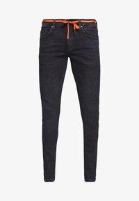 TOM TAILOR DENIM - CULVER PERFORMANCE - Jeans Skinny Fit - blue black denim - 4